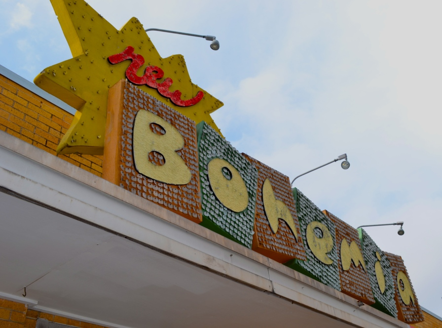 Even the sign atop New Bohemia vintage store, located on South Congress in Austin, stands out. In a city with thrift shops on every corner, each shop must manage to have its own unique vibe.